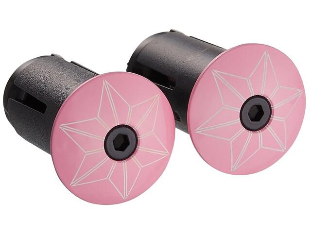 Supacaz Star Plugz Lenkerendkappen giro pink-pulverbeschichtet